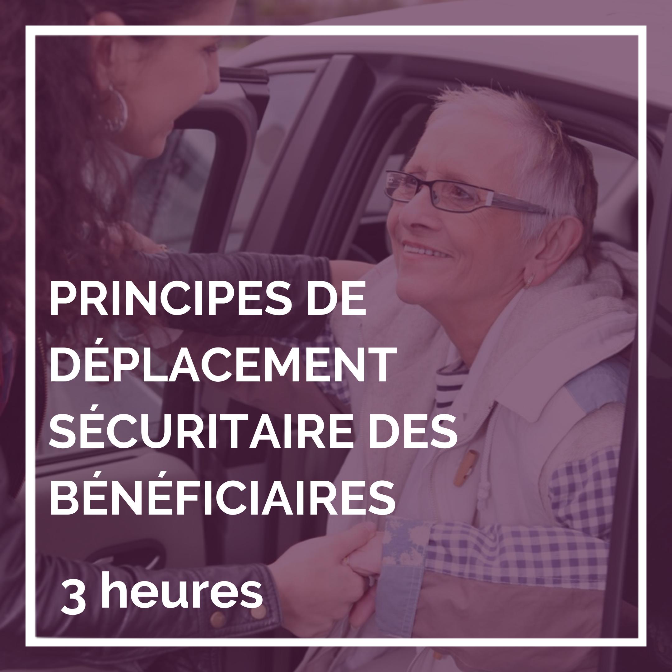 Principes de déplacement sécuritaire des bénéficiaires